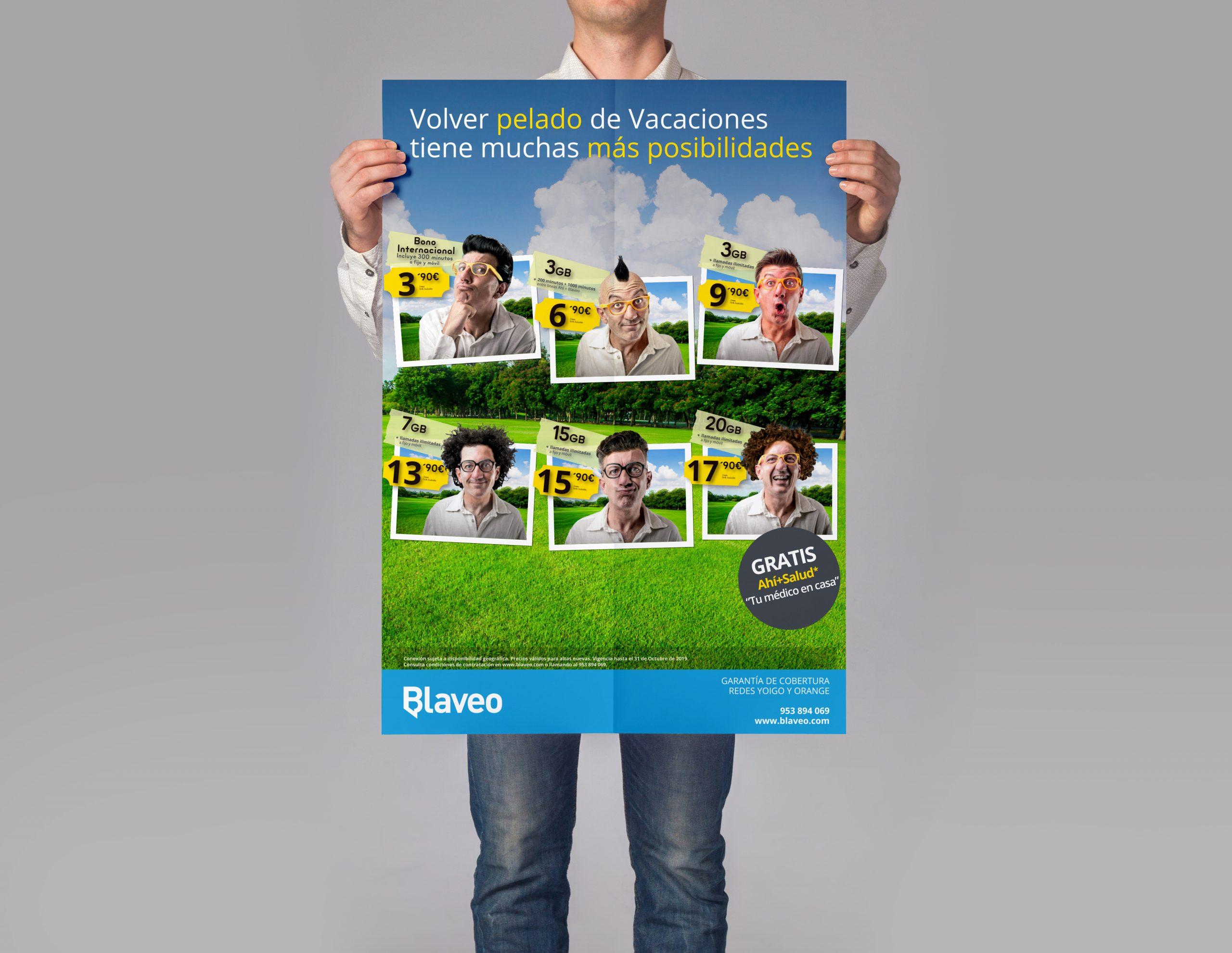 Diseño de carteles publicitarios 50 x 70 cm de Ahí + Blaveo