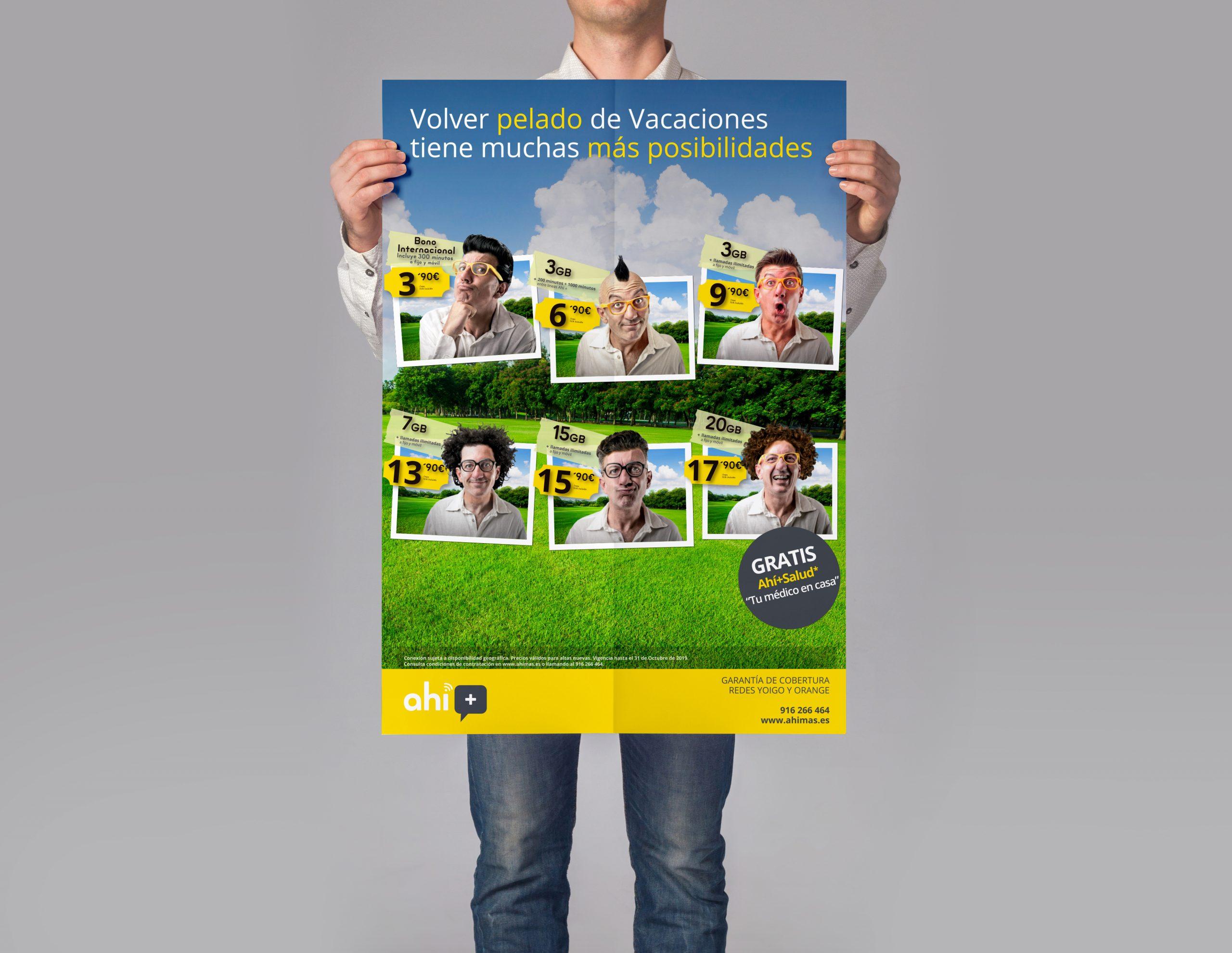 Diseño de carteles publicitarios 50 x 70 cm de Ahí +