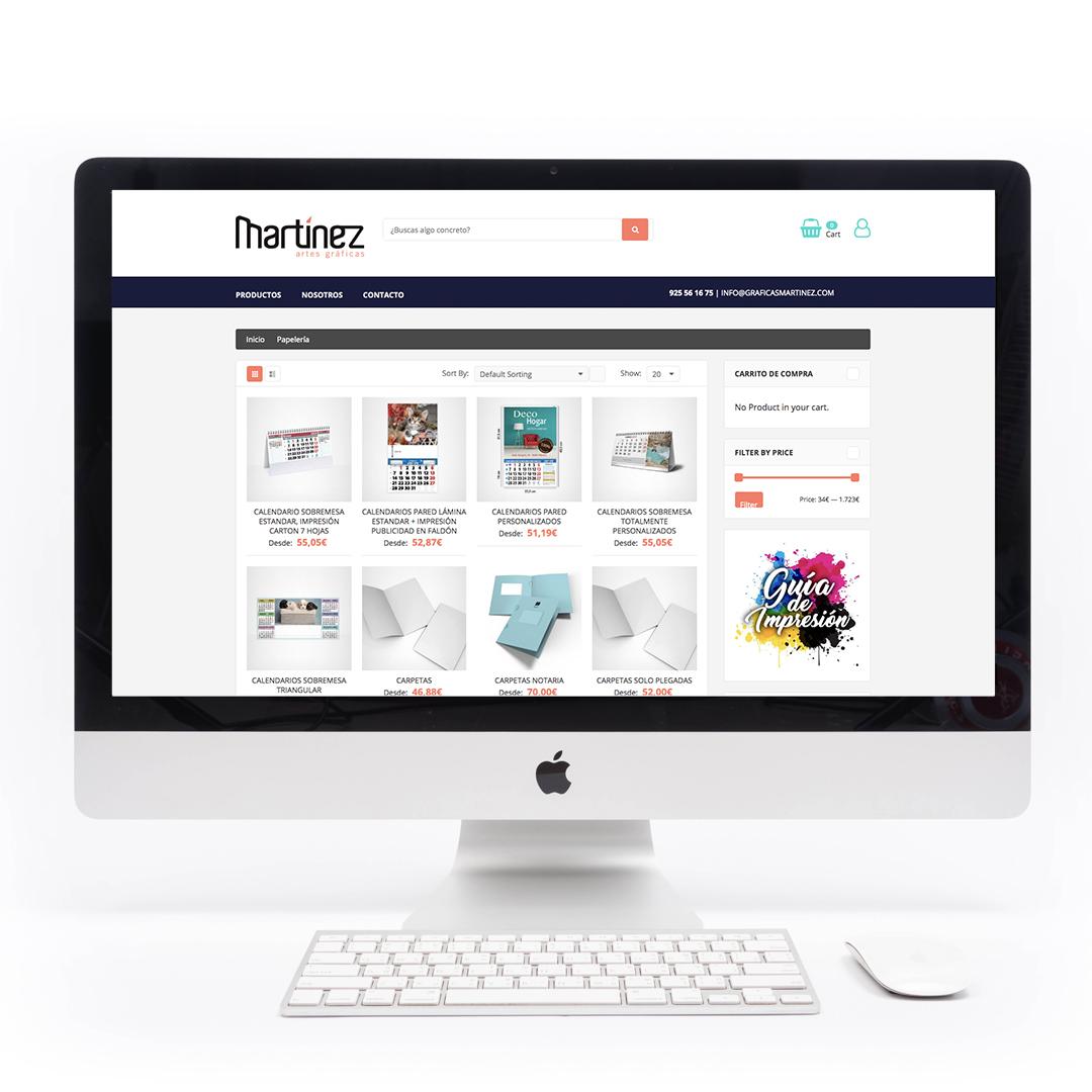 Diseño de eCommerce para Gráficas Martínez