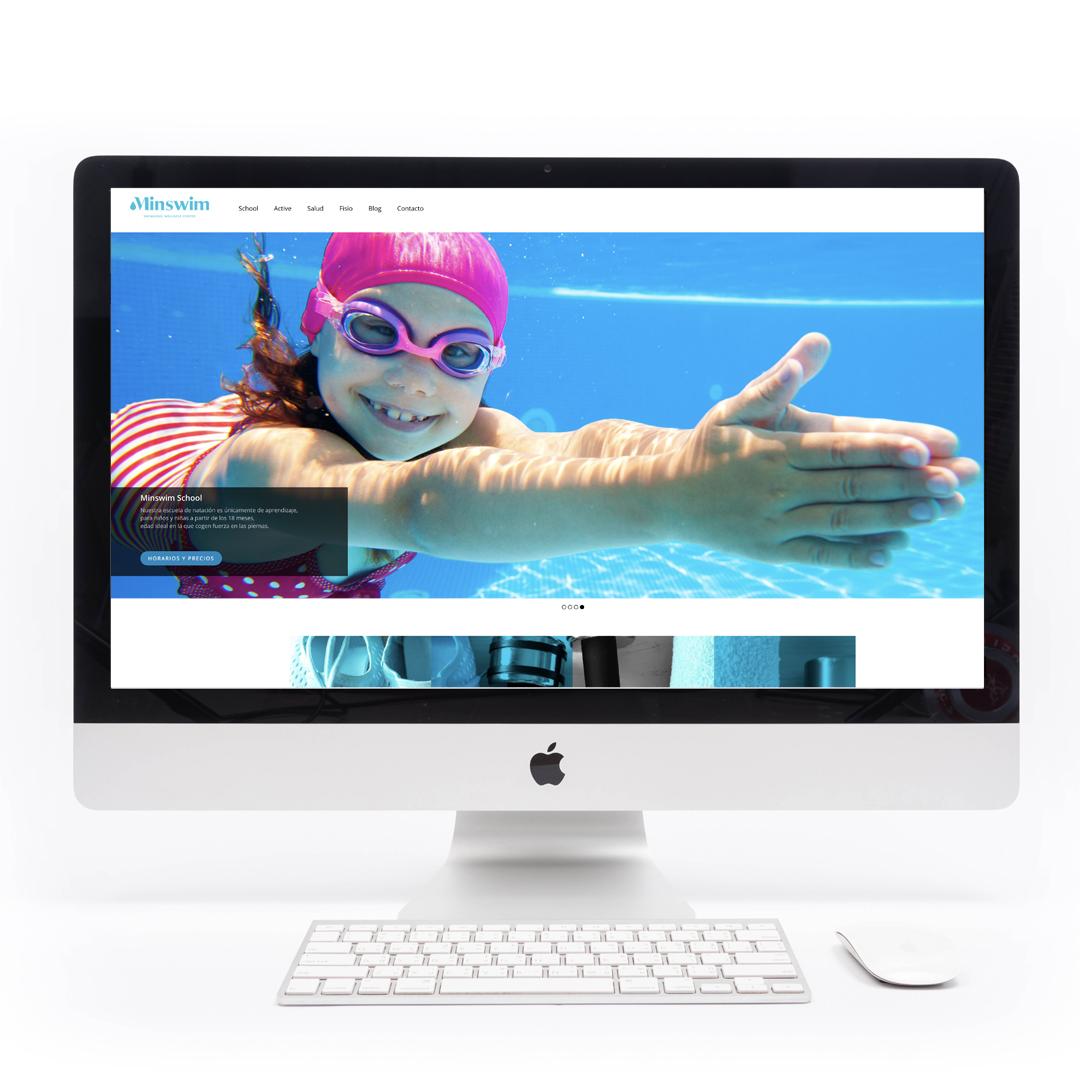 Diseño web responsive para Minswim