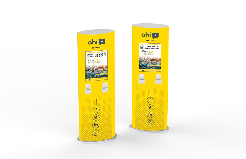 Diseño de material promocional de PLV Ahimas