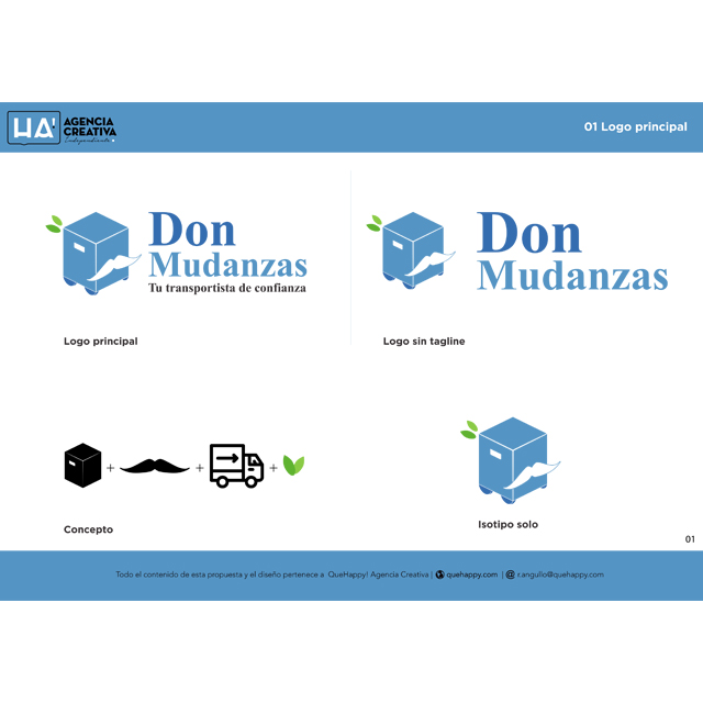 Diseño de manual de identidad corporativa para Don Mudanzas
