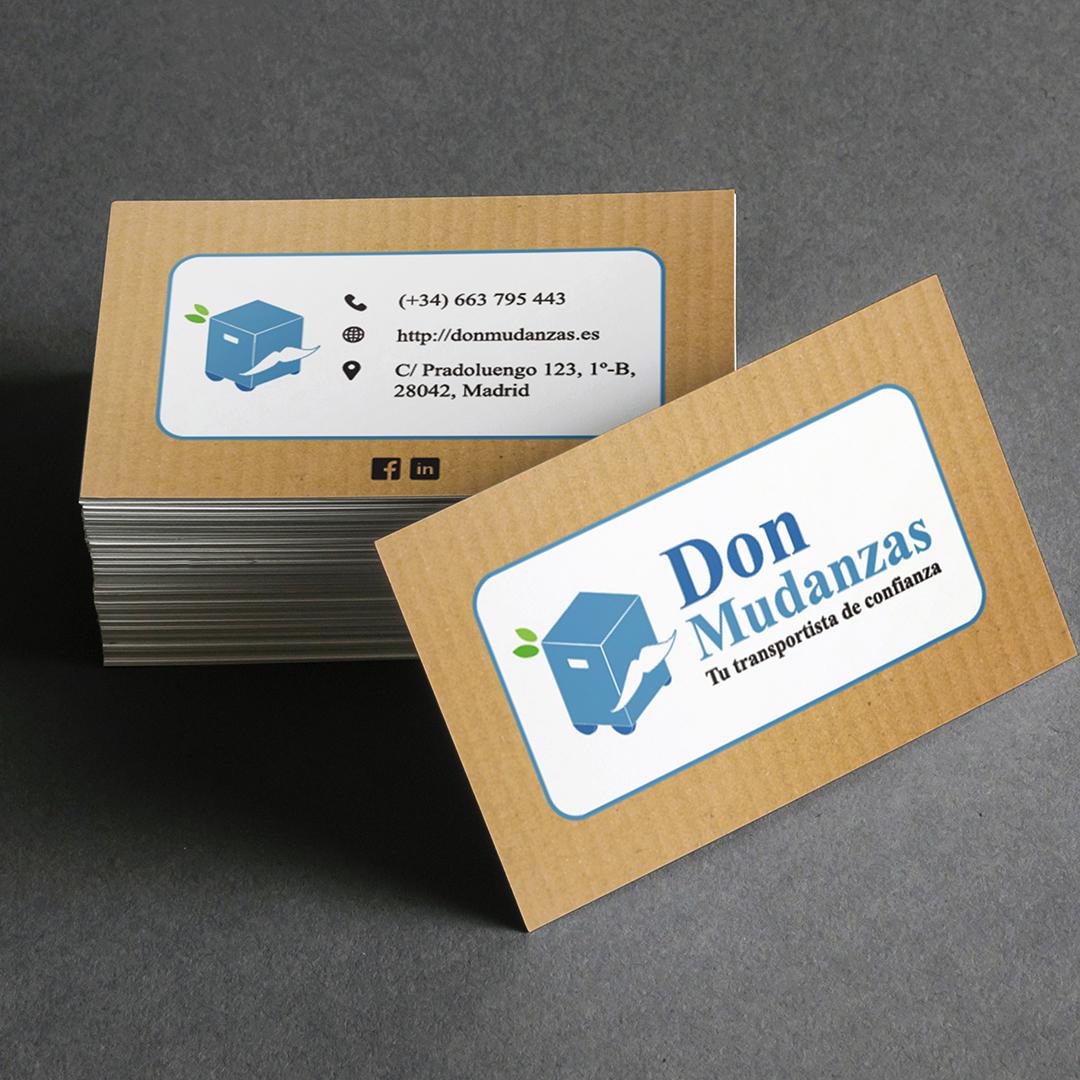 Diseño tarjetas corporativas Don Mudanzas